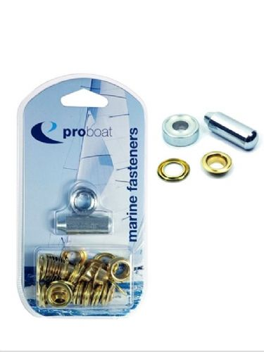 "Marine Brass Eyelet Kit 3/8"" 9.5mm  (25) and 1/2"" 12.7mm (15) Covers Tents Tarpaulines"